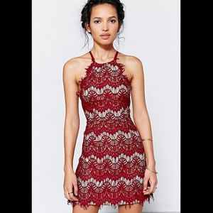Urban Outfitters red halter dress